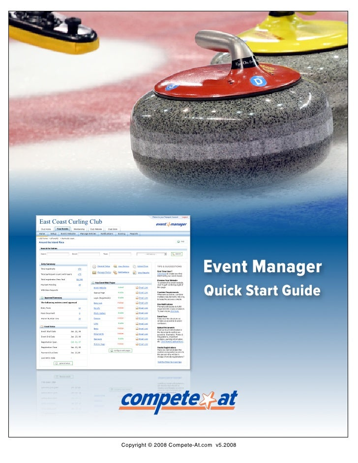 East Coast Curling Club                                                          Event Manager                            ...