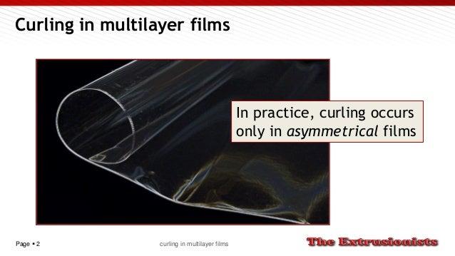 Curling in multilayer films Slide 2