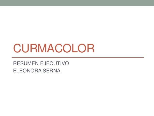 CURMACOLOR RESUMEN EJECUTIVO ELEONORA SERNA