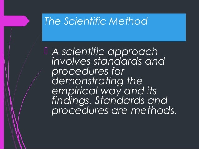 syllabus scientific method and business research Course syllabus instructor: john v introduction to behavioral research methods (6th ed) is based on the belief that the scientific research process is the.