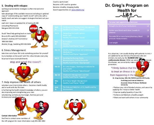 health coach brochure templates - cardiology brochure sample