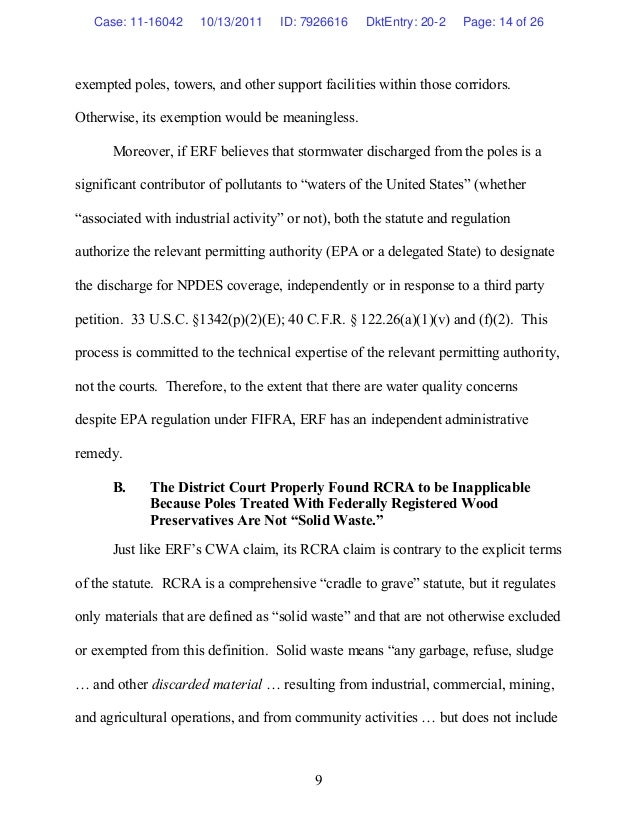10/13/11: Amicus Brief in ERF v. PG&E and Pacific Bell