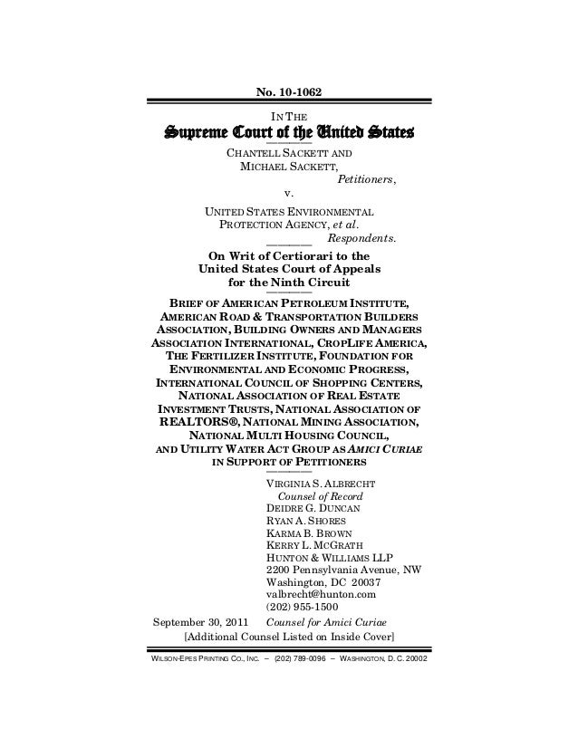 No. 10-1062 WILSON-EPES PRINTING CO., INC. – (202) 789-0096 – WASHINGTON, D. C. 20002 IN THE Supreme Court of the United S...