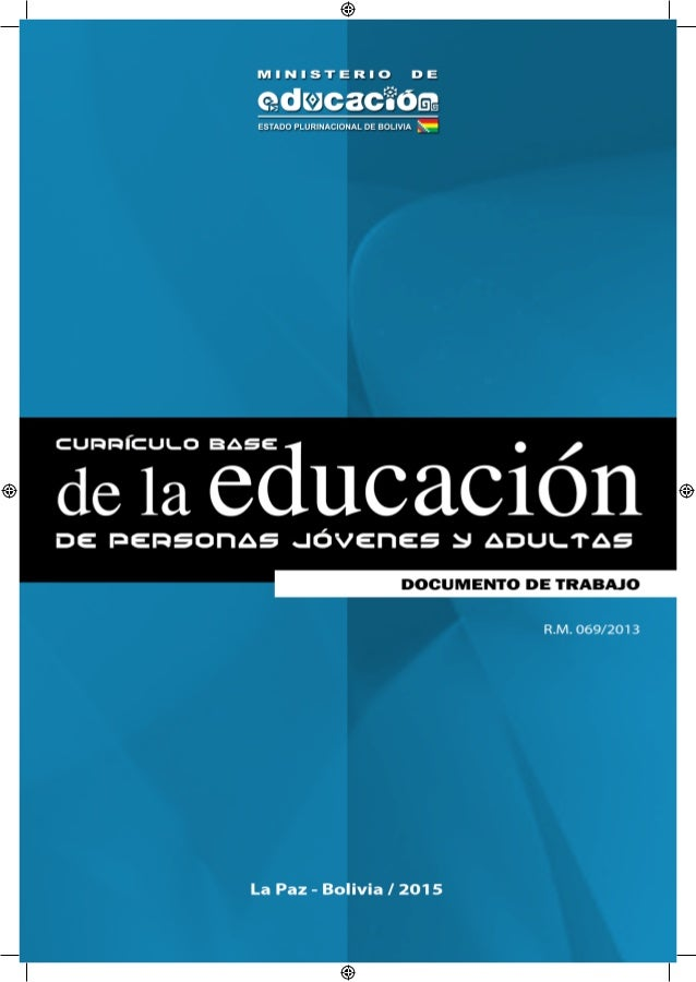 Currículo Base De La Educación De Personas Jóvenes Y Adultos