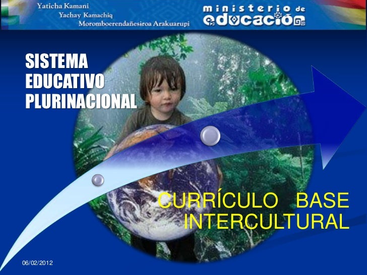 SISTEMAEDUCATIVOPLURINACIONAL                CURRÍCULO BASE                  INTERCULTURAL06/02/2012