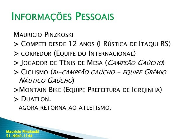 Currículo Esportivo Maurício Pinzkoski