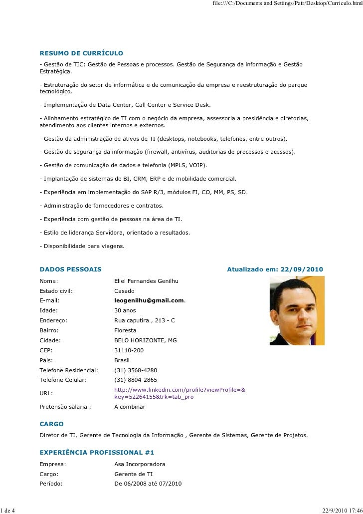 file:///C:/Documents and Settings/Patr/Desktop/Curriculo.html              RESUMO DE CURRÍCULO          - Gestão de TIC: G...