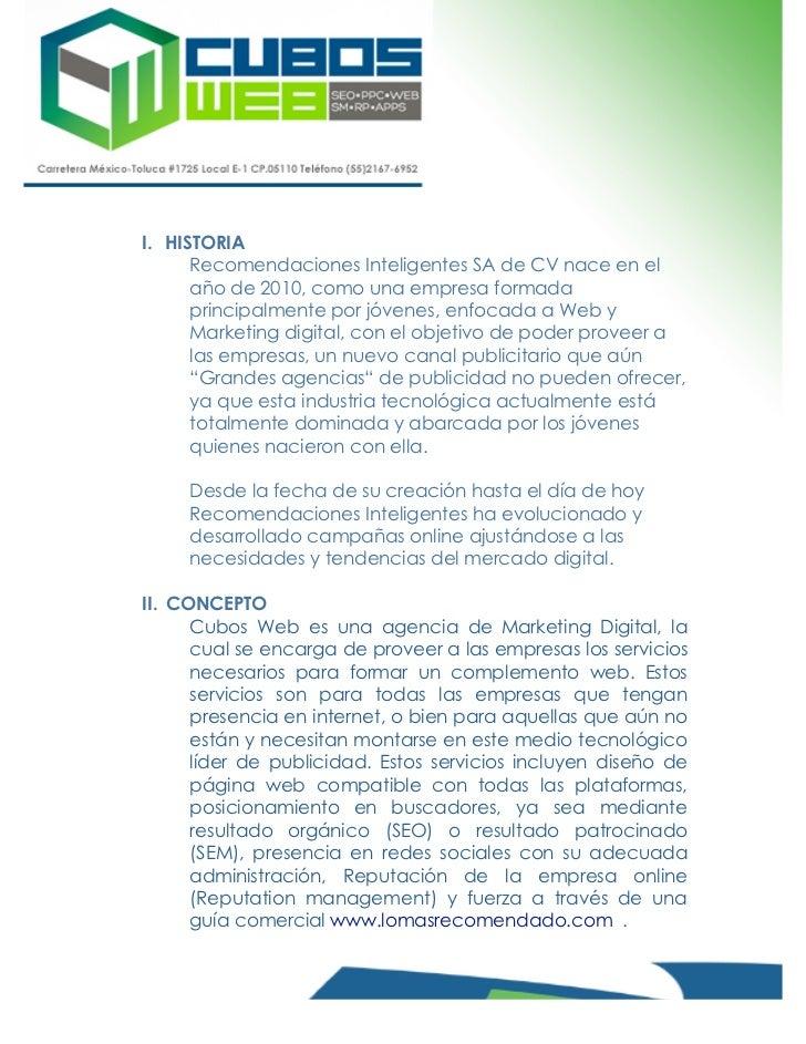 curr u00edculum empresarial cubos web