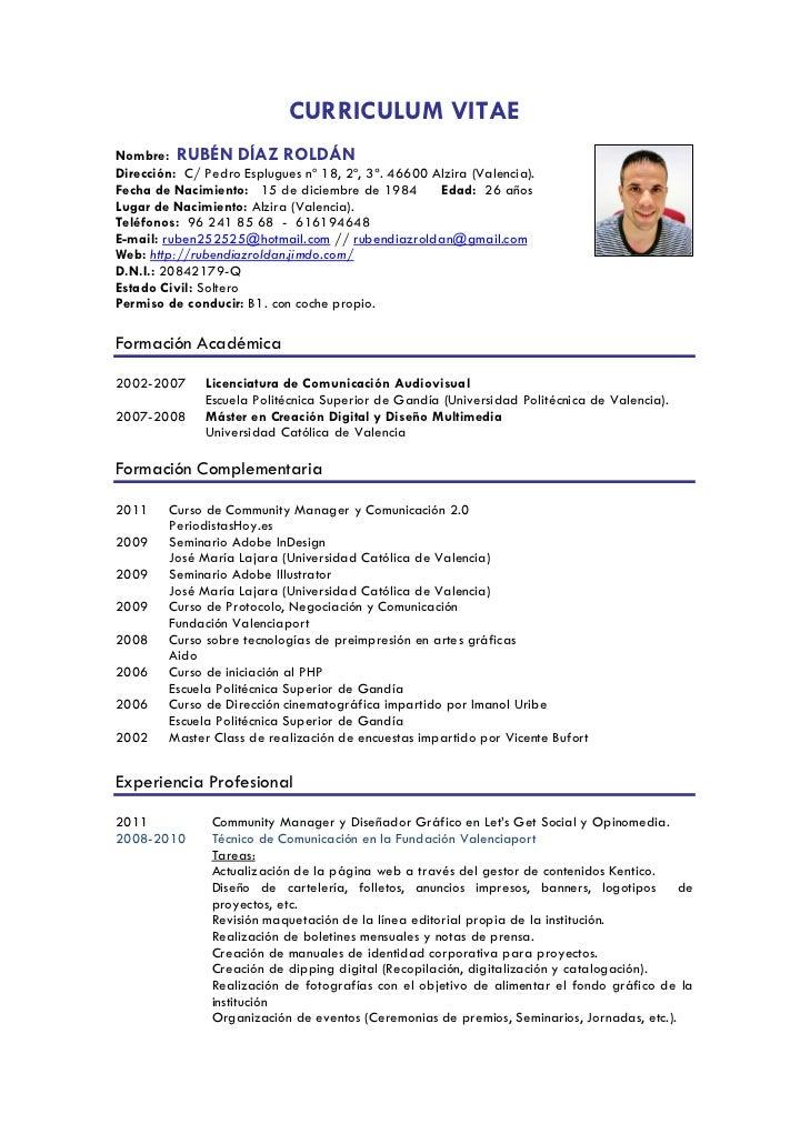 curriculum vitae comunicador audiovisual