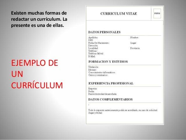 solicitud de empleo y curriculum vitae slideshare