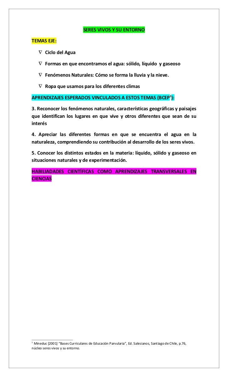 Currículum y evalución en ciencias Ed. Parvularia