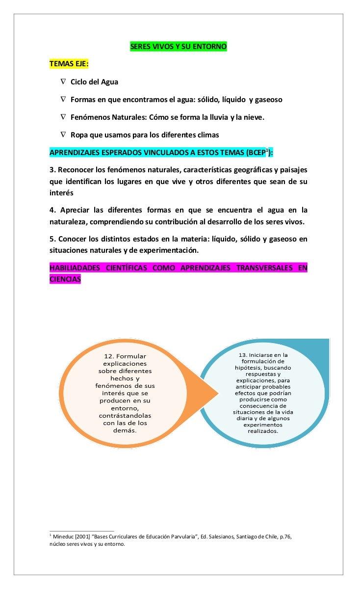 Currículum y evaluación en ciencias Ed. Parvularia