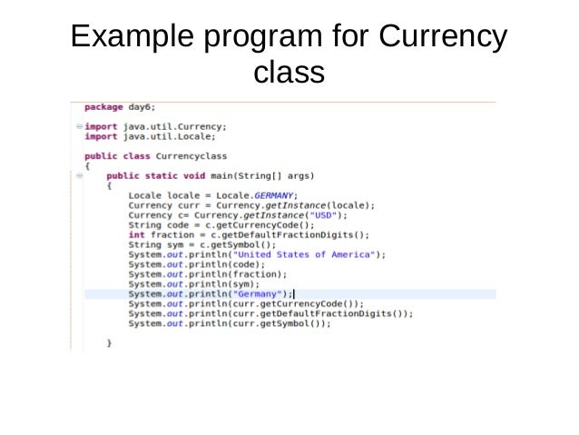 Currency class