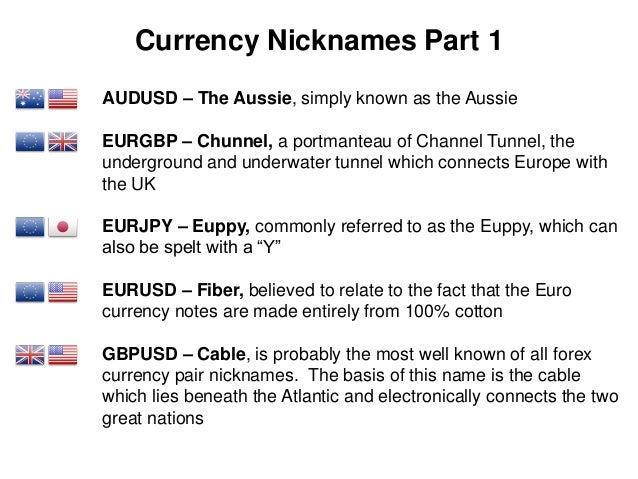 Forex pairs nicknames