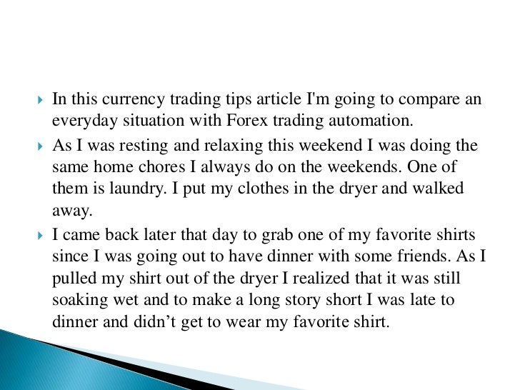 Currency trading tips