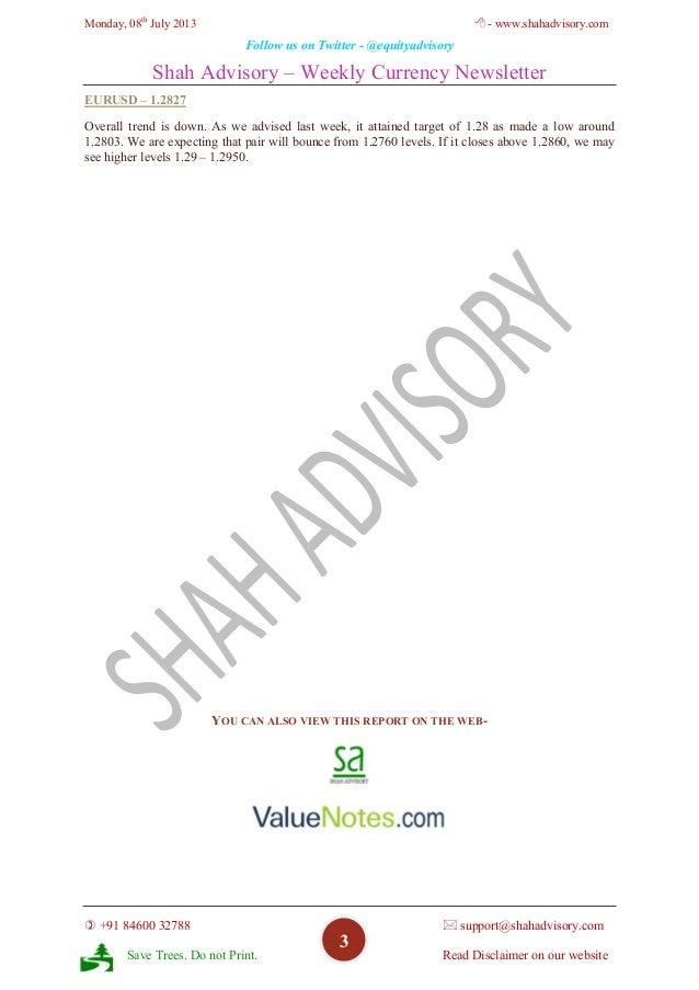 Currency Weekly - 08-07-2013 Slide 3