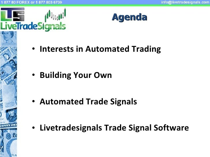 Automated trading strategies java