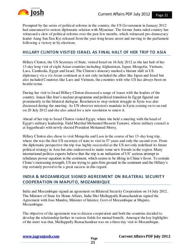 Current Affairs July 2012 Pdf