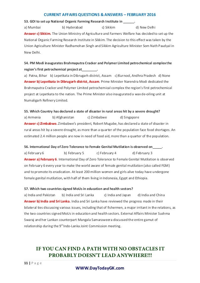 current affairs current affairs questions answers february pdf. Black Bedroom Furniture Sets. Home Design Ideas