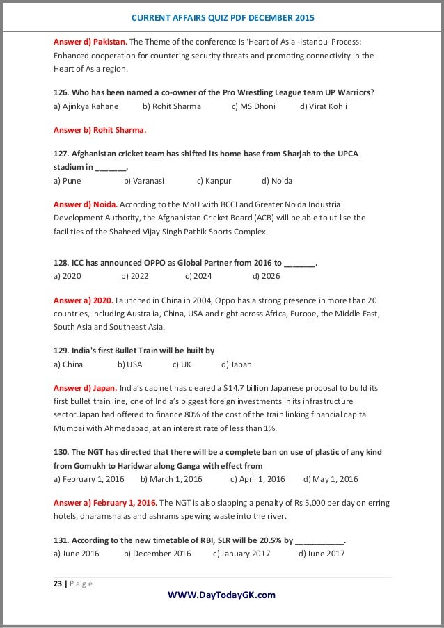 Pakistan current affairs 2015 pdf