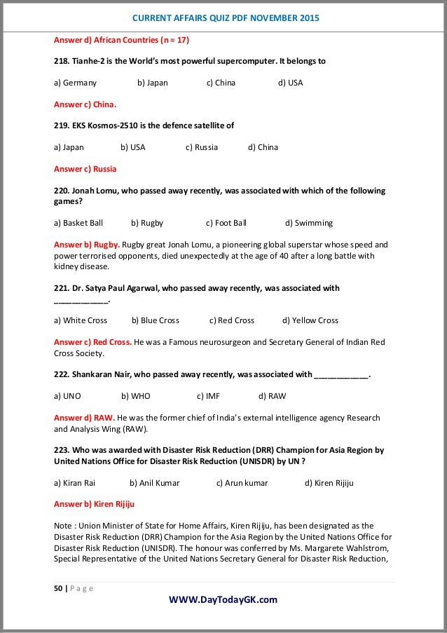 November current 2014 pdf answers affairs and question