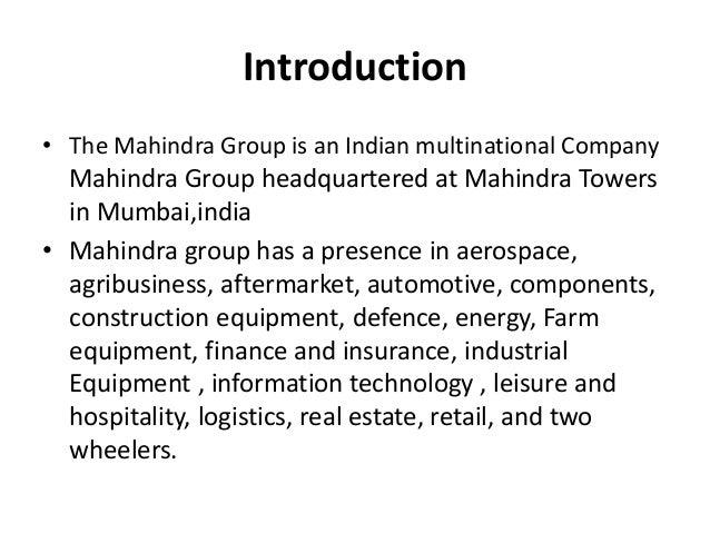 MAHINDRA &MAHINDARA Slide 2
