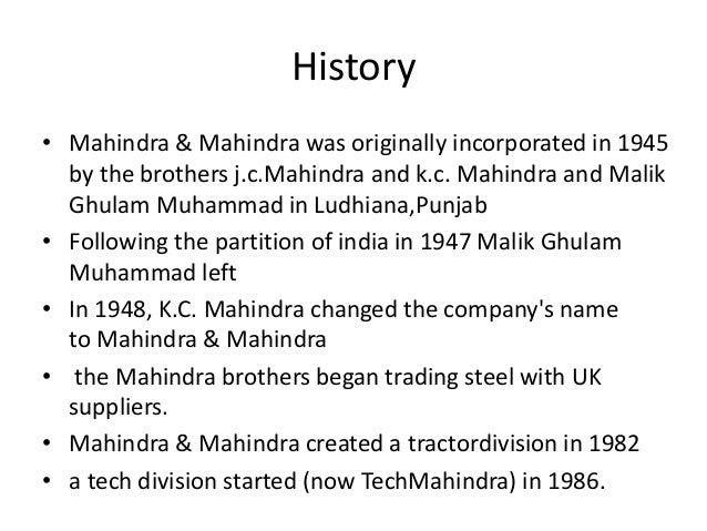 MAHINDRA &MAHINDARA Slide 3