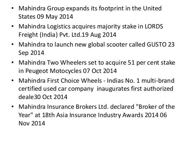MAHINDRA &MAHINDARA Slide 6