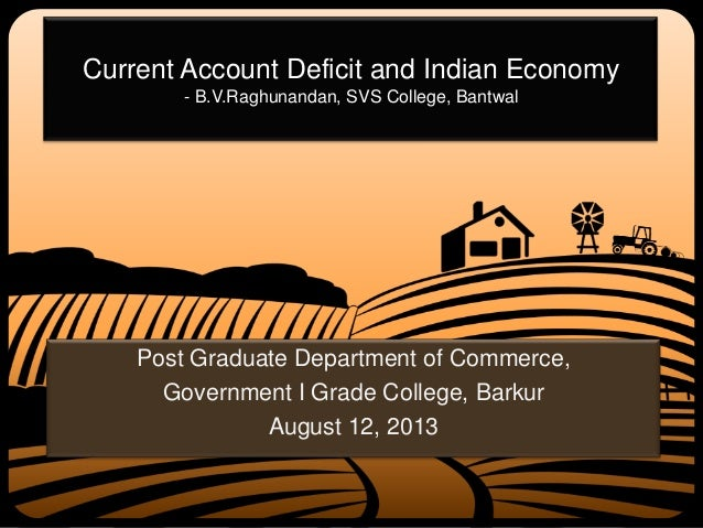 Current Account Deficit and Indian Economy - B.V.Raghunandan, SVS College, Bantwal Post Graduate Department of Commerce, G...