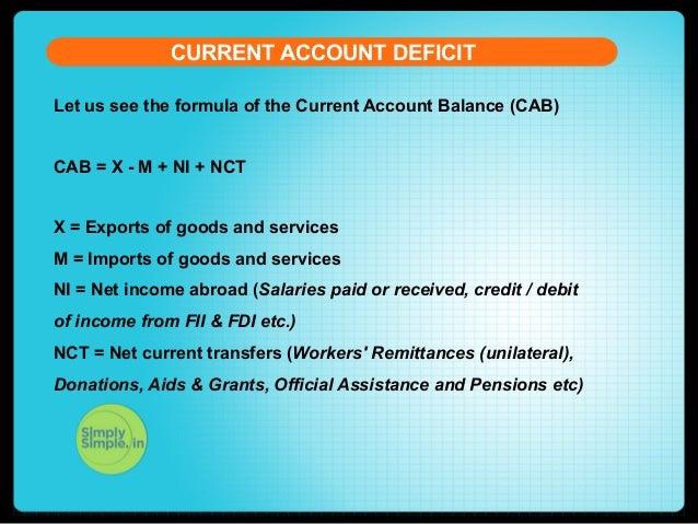 current account deficit