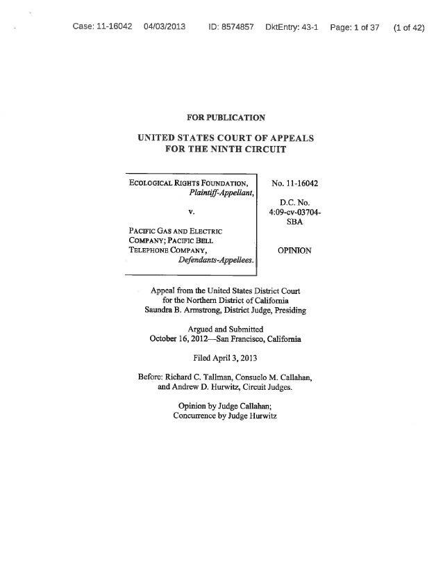 4/3/13: Ninth Circuit Decision
