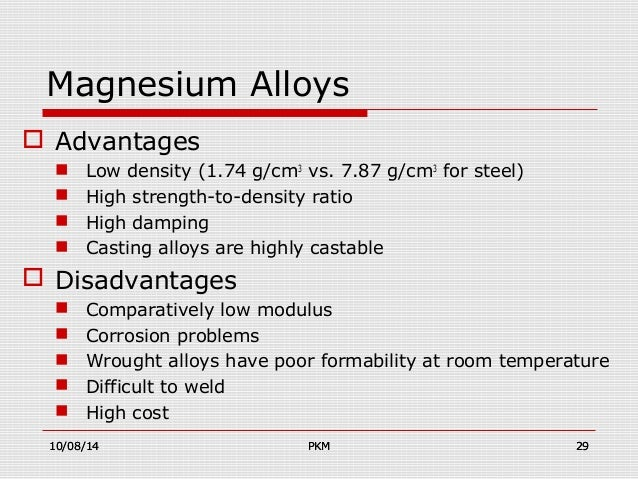 Magnesium Density At Room Temperature