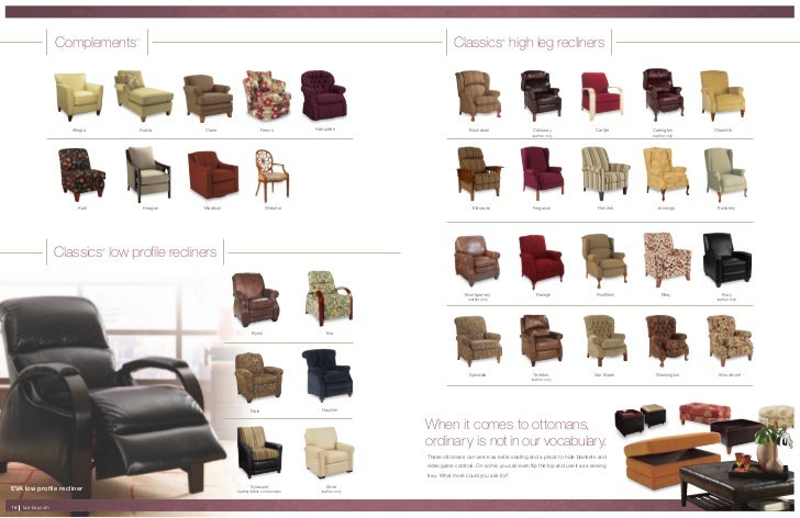 La z boy richfield high leg leather recliner - Lazboy Furniture 2011 Spring Summer Catalog