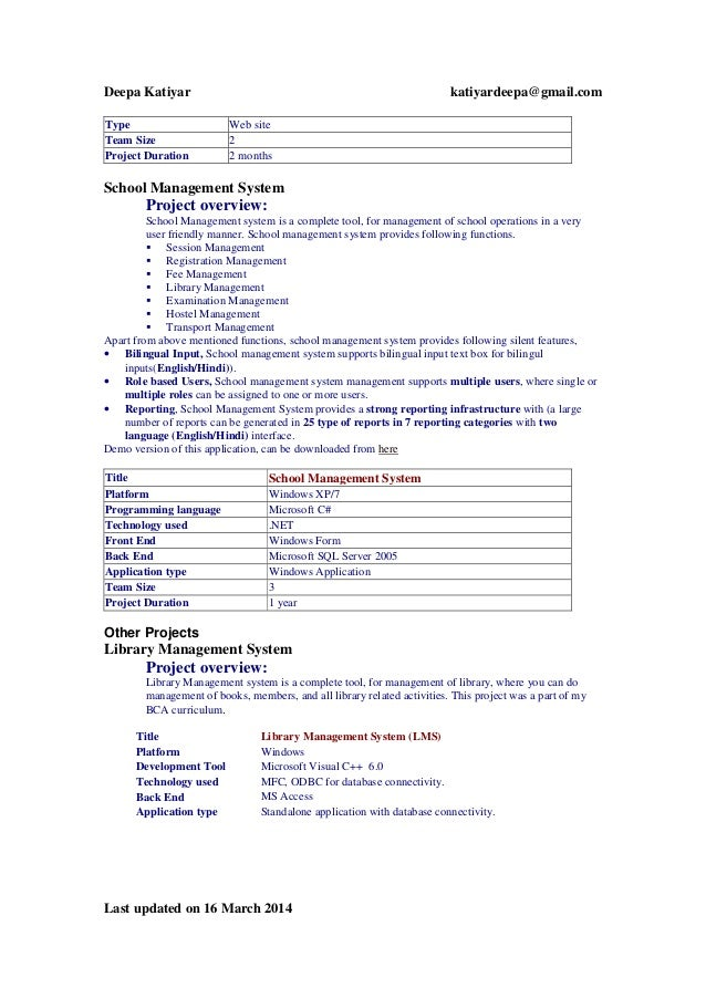 current dk resume