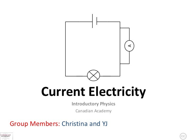 A         Current Electricity                   Introductory Physics                    Canadian AcademyGroup Members: Chr...