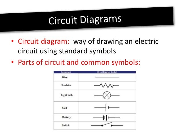 circuit and common symbols: 7