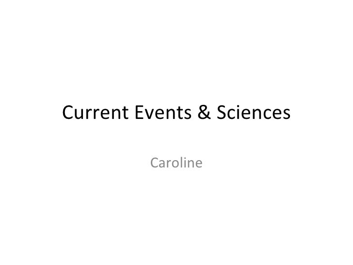 Current Events & Sciences Caroline