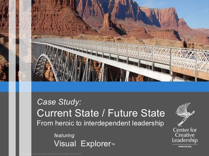 ©2010 Center for Creative Leadership. All Rights Reserved. featuring  Visual  Explorer ™ Case Study: Current State / Futur...