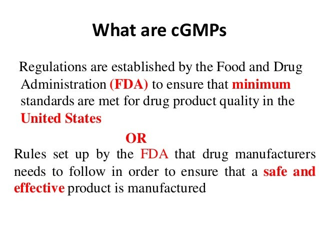 current good manufacturing practices pdf