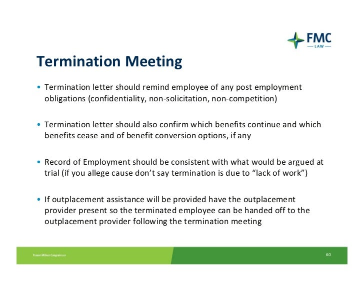 Current hr issues termination meeting termination letter should remind employee spiritdancerdesigns Gallery