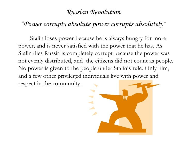 animal farm absolute power essay Animal farm essay power corrupts, absolute power corrupts absolutely power corrupts, absolute power corrupts absolutely is proven many times in the book.