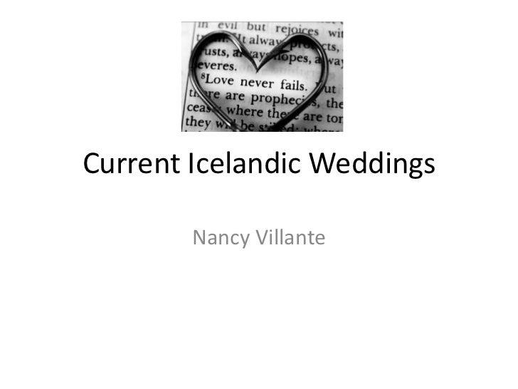Current Icelandic Weddings<br />Nancy Villante<br />