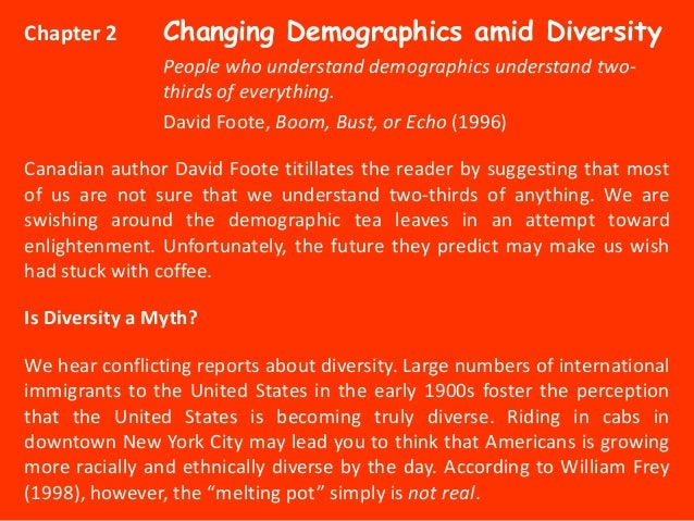 Chapter 2       Changing Demographics amid Diversity                People who understand demographics understand two-    ...