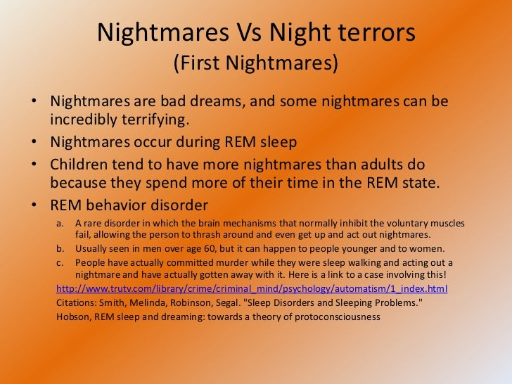 Thesis on night terrors