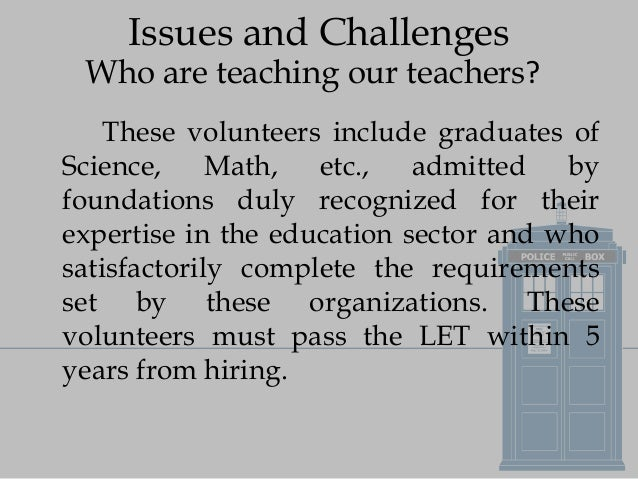 Current Issues In Education Meeting The Challenges Of The