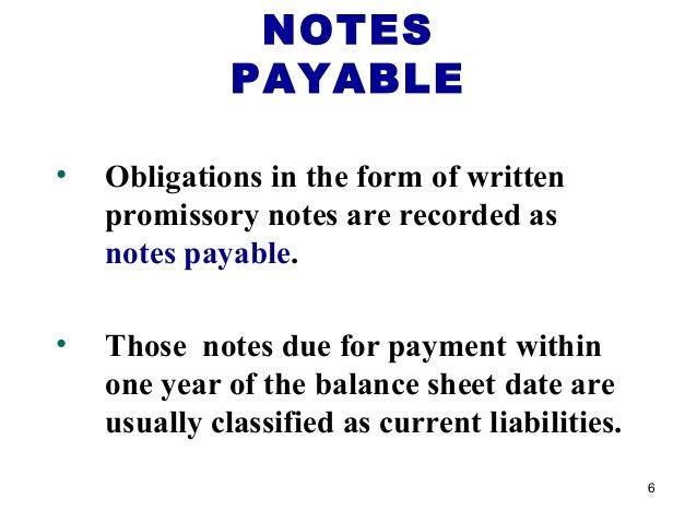 SlideShare  Note Payable Form