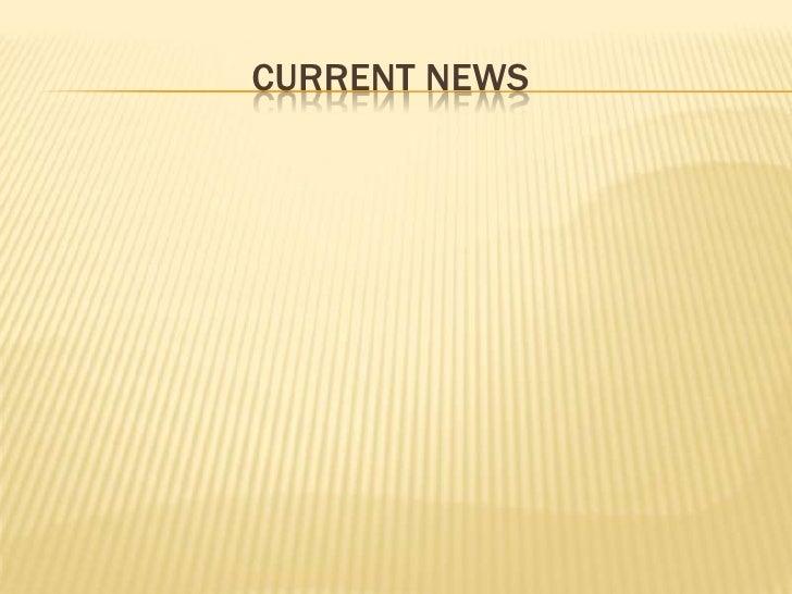 Current news<br />