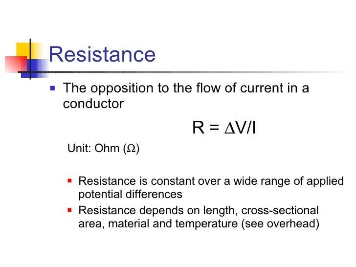 Current Resistance & Power  Voltage