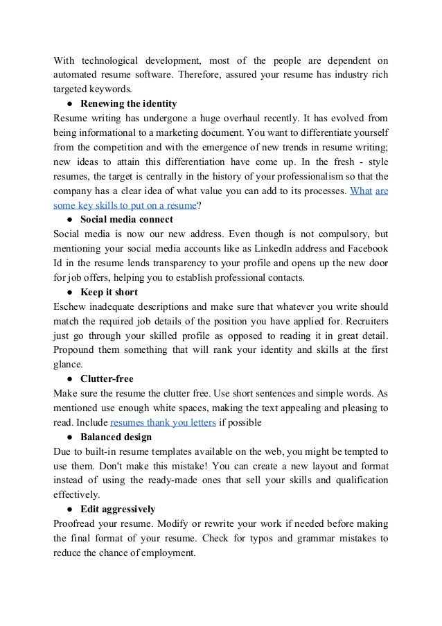 Current Resume Trends in 2018 Lets take a look on the Most Important