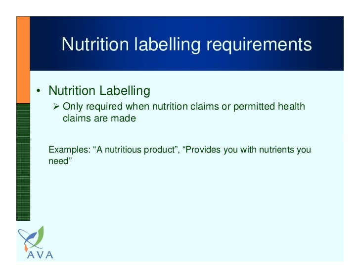 current status of nutrition & health claims in singapore